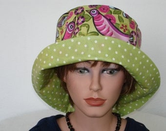 Rainhat - Rain Hat - coated Cotton - multicolor - Womans Hat - Greenery