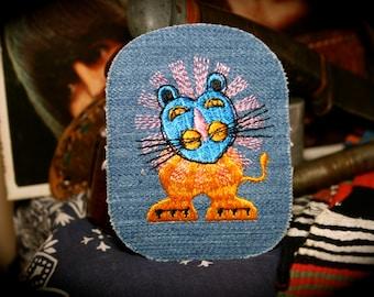 Vintage Cat Clown Lion Patch