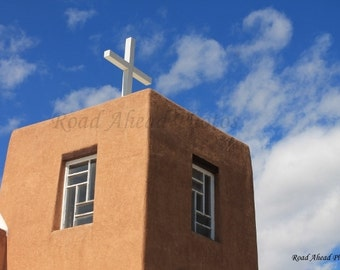 Southwest, Adobe, Church, Our Lady of Guadalupe, Taos New Mexico