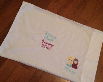 Anna and Elsa disney autograph pillowcase