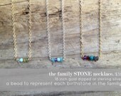the family stone birthstone charm necklace custom gift