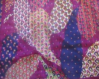 1970's Oscar de la Renta Wool Paisley Scarf, Scarf, Wool, Paisley, Purple, 1970's, 1980's, Oscar de la Renta, Designer