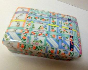 Neiman Marcus Patchwork Porcelain Box