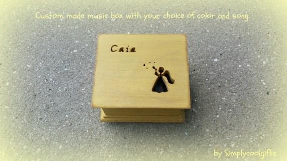 Angel Music Box Music Box Wooden Music Box