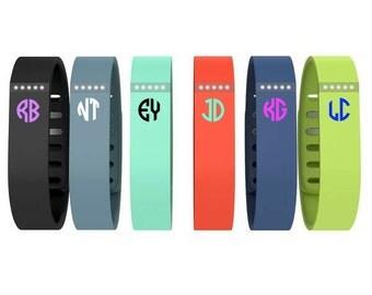 Fitbit Flex Monogram Decal, Fitbit Flex Accessories, Fitbit Bracelet, Fitbit Monogram, Fitbit Decal, Fitbit Stickers, Small Monogram Decals
