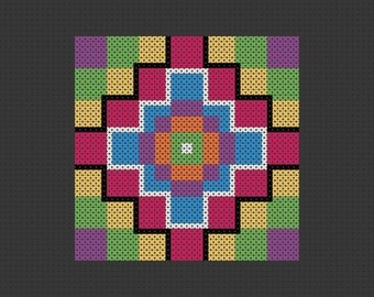 PDF Pattern Cross Stitch Quilt Block Sampler Easy Beginner