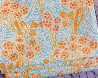 Half Yard cut of Victoria and Albert - Vintage Florals - Blossom in Azure