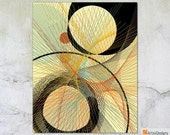 Mid Century Abstract Contemporary Modern Art Giclée Print - Stixy • 3 to choose from in the series - Small Medium Large gallery art prints