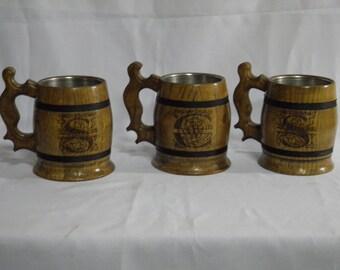 8 Personalized groomsman gift, Wooden Beer mug, 0,65 l (22oz),Personalized wedding gift,groomsmen gift, n12