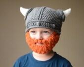 RESERVED Viking Hat With Beard, Viking Crochet Hat, Small Toddler Hat, Viking Crochet, Boy Hat, Photo Prop, Viking Beard Hat