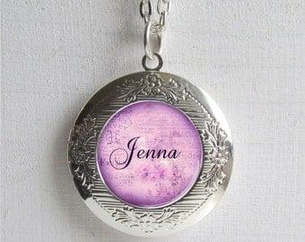 Personalized Locket, Name Necklace, Custom Name Jewelry, Photo Locket