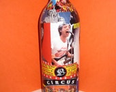 Rolling Stones Decoupage on Recycled Wine Bottle