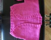 Hand knit hot pink little girl's shrug