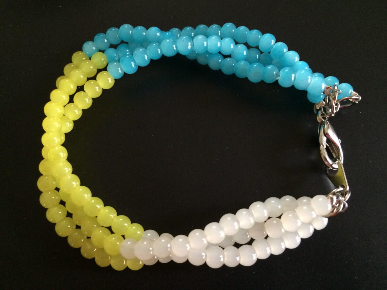seed bracelet multi strand bead bracelet turquoise