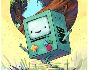 Adventure Time BMO Fan Art print