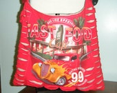 Fast Food Cafe Upcycled/Recycled Tshirt Cross Body Bag