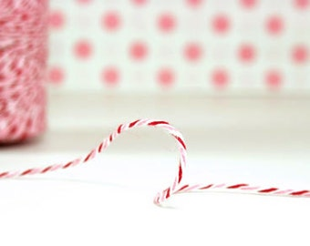 PEPPERMINT - Red & Pink  - Divine Twine - Bakers Twine - Whisker Graphics - 5 meters