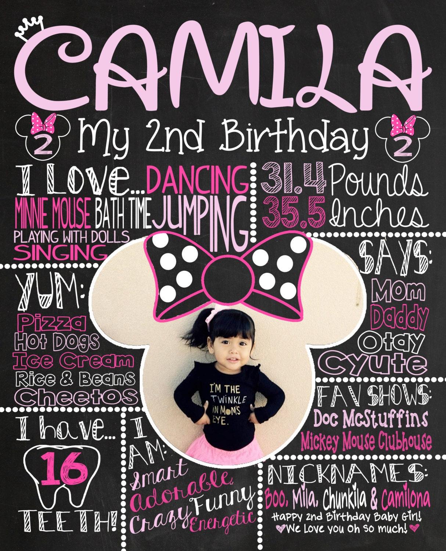 Birthday Chalkboard 1st Birthday Chalkboard For Minnie Mouse