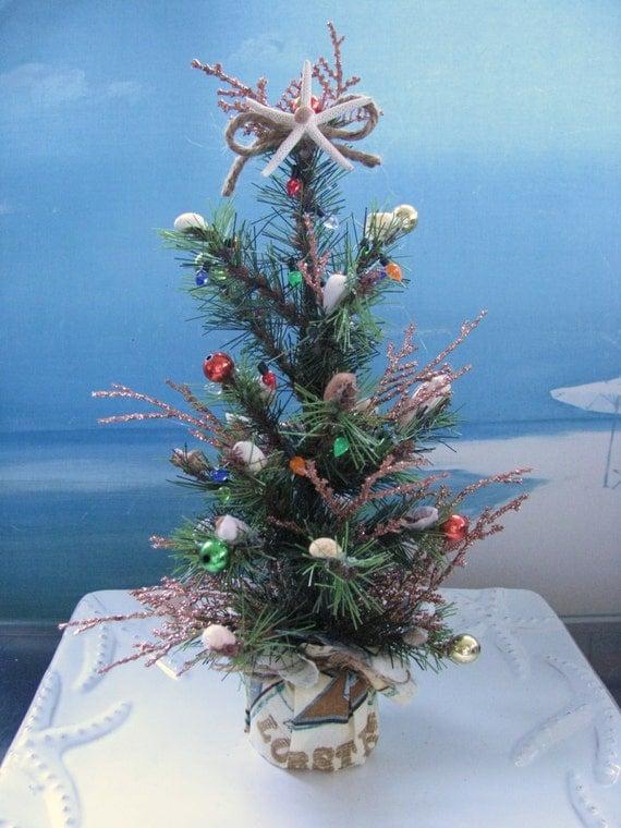 Seashell Christmas TreeCoastal Holiday Decor