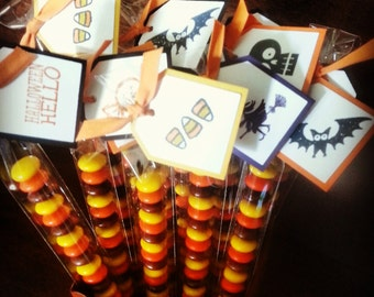 Halloween Treats Candy Included Set of 20, Halloween Party Favors, Halloween Favors for Classmates, Halloween Party, Halloween for Kids