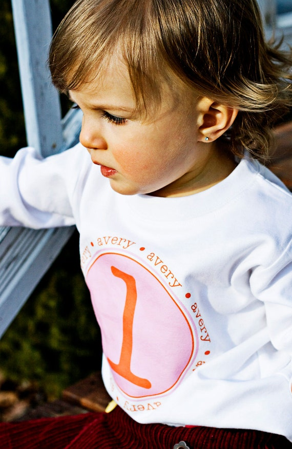 Personalized Shirt Name Initial or Birthday Number T Shirt Girls Boys Tee Baby Onesie High Quality Shirt Tshirts Luna B. Tee
