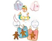 1950s Baby Pattern McCall's 2316, Infants & Toddlers Bibs, Stuffed Toy, Apron, Gingerbread Man, Chicks, 1959 Vintage Sewing Pattern
