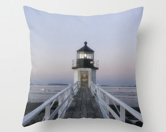 Marshall Point Lighthouse,  Throw Pillow, Photo Pillow, Home Decor, Maine