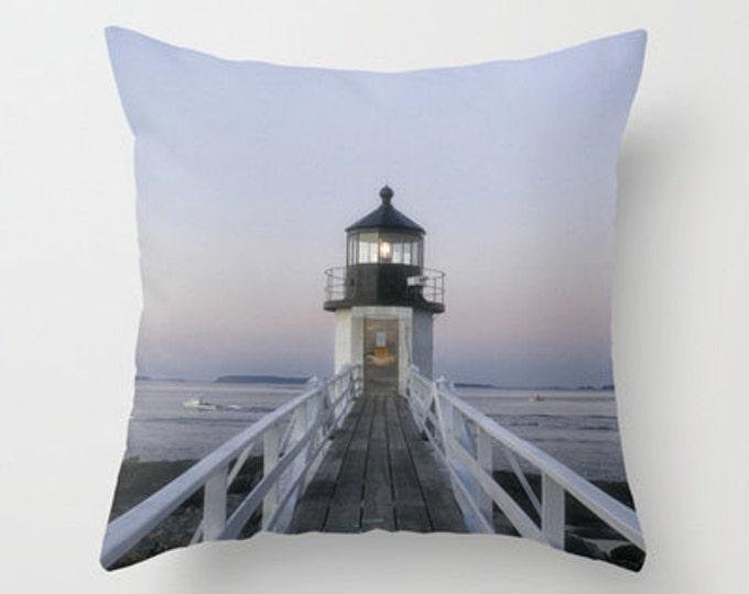 Marshall Point Lighthouse,  Throw Pillow, Photo Pillow, Home Decor, Maine
