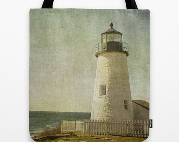 Pemaquid Lighthouse, Photo Tote, Tote Bag, Reusable Bag, Maine,