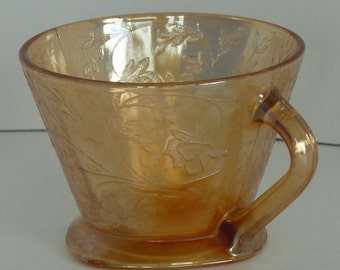 Marigold Depression Glass, Fair Prize, Carnival Glass, Depression Glass, Vintage Cup, Collectible