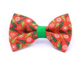 Quinn Christmas Tree Bow for Dog Collar