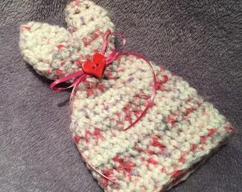 Newborn Little Sweetheart Crochet Hat