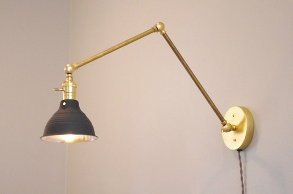 Wall Mount Articulating Lamp : Industrial Articulating Brass Wall Lamp 2.0