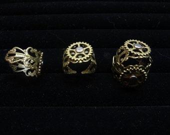 Steampunk Spinning Gear Rings (Gearings)