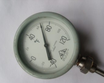 Vintage Negretti & Zambra London thermal/temperature gauge