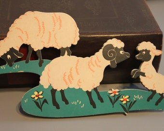 Vintage Dolly Toy Co. Baby Nursery Wall Decor, Farm decor, Sheep wall art, cow decor, farm nursery