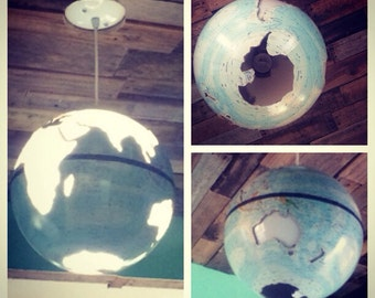Vintage World Globe Hanging Light