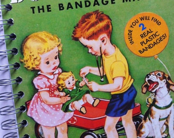 Doctor Dan The Bandage Man Little Golden Book Recycled Journal Notebook