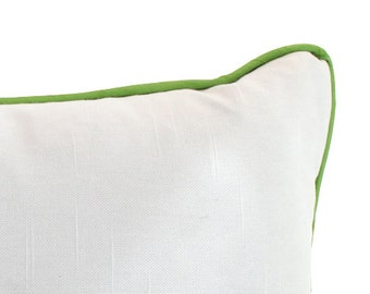 Custom Lumbar Pillow with Piping