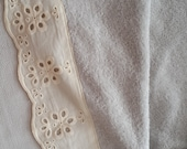 Beige cotton lace  on %100   cotton towels. High quality towel/Soft towel/Turkish hand towel/Turkish cotton/Handmade towel/Towel for  homes