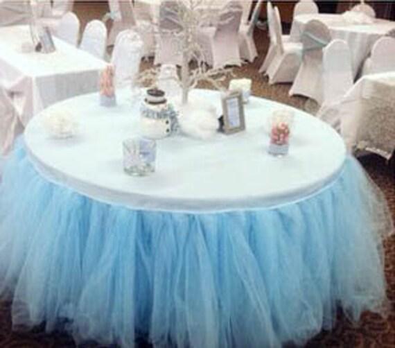 Tutu Table Skirt Tulle Wedding Birthday Baby