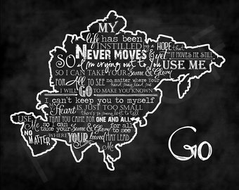 "Chalkboard Art - Asia with ""GO"" lyrics by Mercy Me"