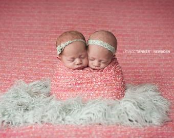Newborn Sweater Knit Wrap, Confetti Fabric Wrap, Newborn Layering Fabric, Pink Newborn Wrap, Newborn Knit Wrap - Pink