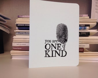 You are One of a Kind greeting card