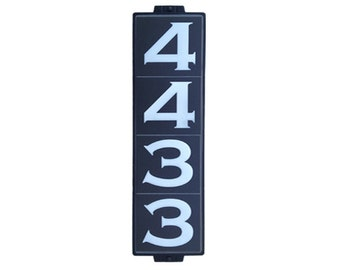 Classic Black House Number Sign