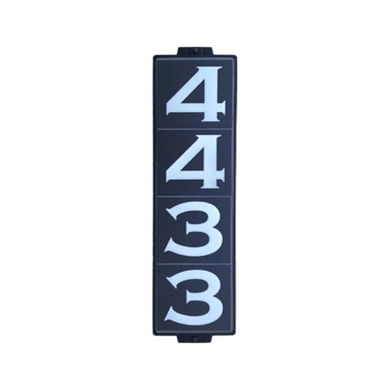 Address plaque house numbers sign classic black for Classic house numbers