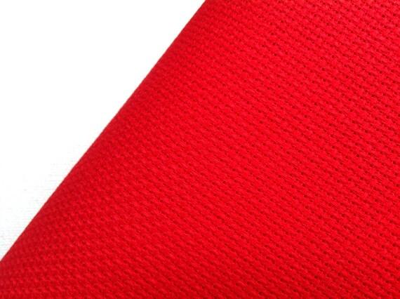 Christmas red aida count fabric cross stitch