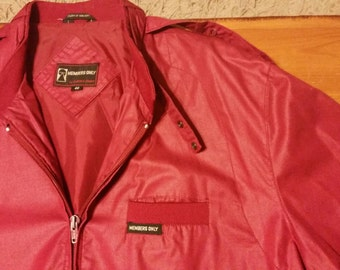 RED Members Only cafe racer jacket by Europe Craft, Size 40