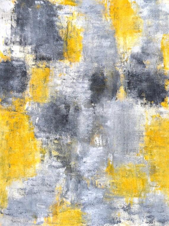 Oeuvres d 39 art originales 2014 peinture abstraite for Peinture murale jaune