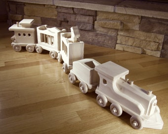 Handmade Wooden circus Train Toy